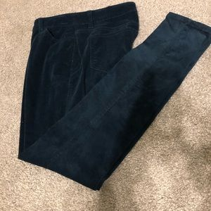 Style& Co, woman's teal, corduroy fabric pants, 6P